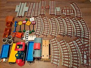 Vintage PLAYSKOOL EXPRESS TRAIN SET - 1988  - RARE- Fully tested works great!
