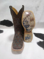 Tin Haul Boots Men's Tin Haul Cowboy Triangles Western Boots, Anvil Of Power