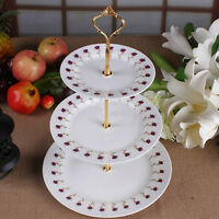 EE_ 3-Tier Wedding Birthday Party Cake Plate Stand Tray Cupcake Display Tower De