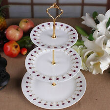 AM_ EE_ 3-Tier Wedding Birthday Party Cake Plate Stand Tray Cupcake Display Towe