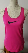 Nike Pro Dri-Fit Pink Running Gym Sports Racer Stretch Vest Medium