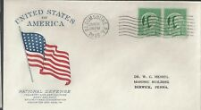 1/19/45 USA honors the National Defense WWII Patriotic Cover