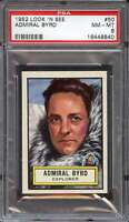 1952 TOPPS LOOK AND SEE #50 ADMIRAL BYRD PSA 8 *DS11388