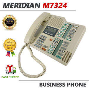 Nortel Meridian M7324 White Business Display Telephone