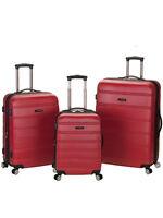 Rockland Luggage Melbourne 3-Piece Hardside Spinner Luggage Set NEW