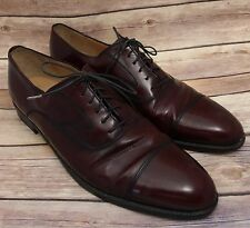 Salvatore Ferragamo Men's Cap Toe Leather Cordovan Oxford Shoes Size 11 C Italy