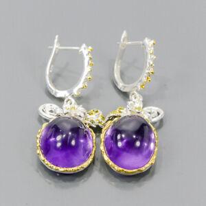 Handmade SET Amethyst Earrings Silver 925 Sterling   /E54559