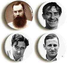ENGLISH CRICKET BADGE BUTTON PIN CLASSIC PLAYERS SET (Size 1inch/25mm diameter)