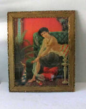 Antique frame and lithograph - Salome - Risque - Early 1900s - 23.5 x 19.5