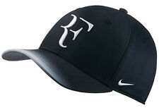New NIKE AEROBILL ROGER FEDERER Hat RF TENNIS Cap 868579-013 Black/Grey