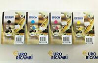Cartuccia EPSON 16XL COMPLETO 4PEZZI Originale C13T16364022 Fattura & Scontrino