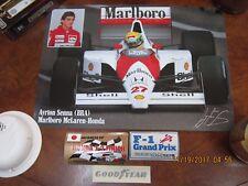 Vintage Ayrton Senna / Factory Marlboro Motor Racing Poster & stickers