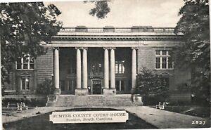 Vintage Postcard - Sumter County Court House Sumter South Carolina SC #5239