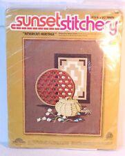 Sunset Stitchery #2287 American Heritage Embroidery Kit 1977 Nancy Overton