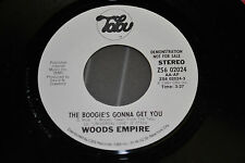 """WOODS EMPIRE Boogie's Gonne Get You 7"""" '81 COSMIC DISCO BOOGIE FUNK Promo 45"""
