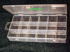 STORAGE CASES PLASTIC WITH REMOVABLE DIVIDERS - NEW.