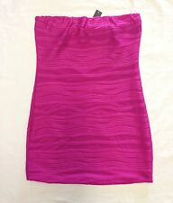 Heart Soul Pink Adult Large Strapless Textured Tube Dress