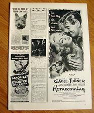 1948 Movie Ad HOMECOMING Clark Gable Lana Turner Anne Baxter John Hodiak