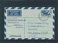 5,-  Aerogramm 1971 aus Salzburg nach New Jersey, USA  (D17)