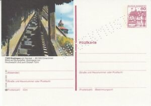 P 138  Serie l  Burgen & Schlösser Bildpostkarte Druckmuster  Esslingen  **