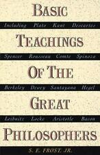 Basic Teachings of the Great Philosophers, S.E. Frost, Good Book