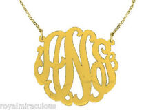 Sterling Silver Super Large Monogram Necklace Personalized 45mm