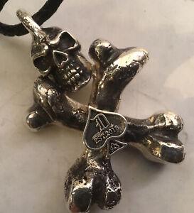 Detroit 925 Pendant Custom Handmade Sterling Silver 2.87oz .925 Hearts Chrome