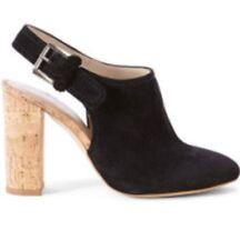 Womens Ladies Black Suede KAREN MILLEN shoes Mule Slip Ons Strappy Size 5 NEW
