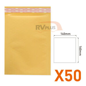 50XYellow Premium Business Envelope-140x160mm Kraft Laminated Self Seal Mailers