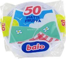 50 PIATTI PLASTICA BIANCO 20 CM