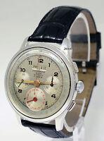 Suisse Triple Calendar Chronograph 17J Stainless Steel 38mm Mens Watch