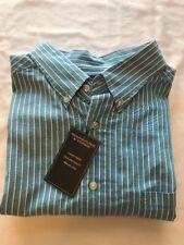 2XB Roundtree & Yorke Long Sleeve Button Down Shirt, Blue Stripe