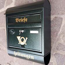 XXL Briefkasten Postkasten Grün+Zeitungsrolle Wandmontage Nostalgie Letterbox