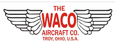 A229 The WACO Airplane banner hangar garage decor Aircraft signs