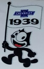 Felix the cat 1939 Chevrolet Flag Die Cut Decal Chevy Bomb Lowrider