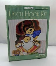 """Roly Poly Puppy #R030 Natura Caron Latch Hook Kit 20""""x27"""" Complete Kit - NEW"""