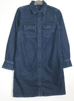 Marks & Spencer Western Denim Shirt Dress - Size 6 - 20