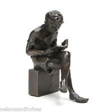 Wedgwood Museum Seated Boy Bronze Sculpture by Jonathan Sanders