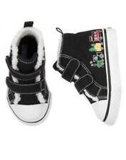 Gymboree North Pole Express Train Sherpa Hi Top Sneaker Shoes Boys 9 NEW NWT