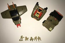 "Xpanders ""ATTACK JEEP"" 4x4 / Gun Battery Starcom 1989 Galoob Vintage lot"