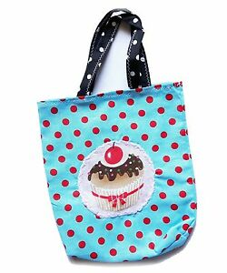 Kinderbeutel Muffin Punkte Dots Kindergartentasche Frühstücksbeutel bestickt