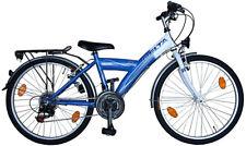 24 Zoll Kinderfahrrad Jugendrad blau StVZO Beleuchtung