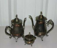 Vintage Leonard Silverplate Teapots - W/ Sugar Pot