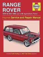 Haynes 0606 Manual for Land Rover Range Rover V8 Petrol 1970-1992 Hardback