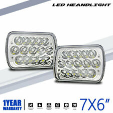 "7X6"" 5X7"" FCC LED Headlights Headlamps Sealed Beam for Chevy Express Sonoma 1500"