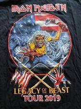 Iron Maiden Legacy Of The Beast 2019 Concert Tour T Shirt Mens Sz XL