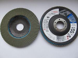 10 Stück Bosch X781 Best for Metal Fächerscheibe Fächerschleifscheibe 115 ,P40