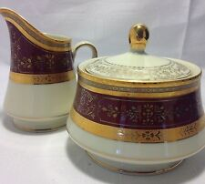 Mikasa Grande Ivory Dynasty Red No.L2832 Japan Sugar Bowl And Creamer