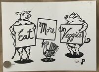 Jim Pollock Eat More Veggies Phish Dietary Reminder 2020 Print Mint