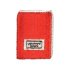 ID 0975B Red Notebook Writing Book School Embroidered Iron On Applique Patch